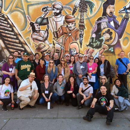 Ben & Jerry's employee committee members participate in a learning tour in Oakland, CA.